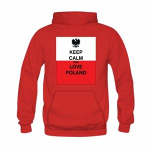 Bluza z kapturem dziecięca Polska flaga z napisem