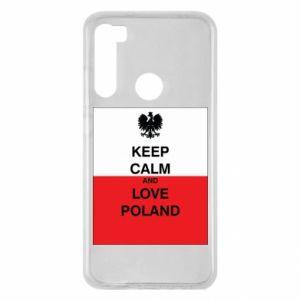 Etui na Xiaomi Redmi Note 8 Polska flaga z napisem