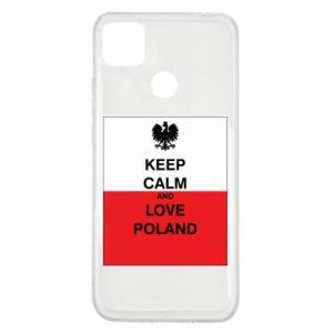 Etui na Xiaomi Redmi 9c Polska flaga z napisem