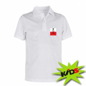 Children's Polo shirts Polish flag with an inscription - PrintSalon