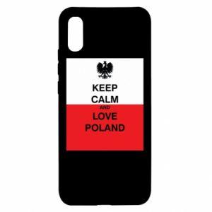 Etui na Xiaomi Redmi 9a Polska flaga z napisem