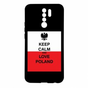 Etui na Xiaomi Redmi 9 Polska flaga z napisem