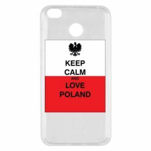 Etui na Xiaomi Redmi 4X Polska flaga z napisem