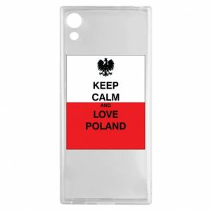 Etui na Sony Xperia XA1 Polska flaga z napisem