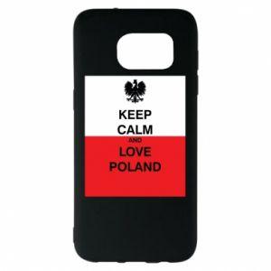 Etui na Samsung S7 EDGE Polska flaga z napisem