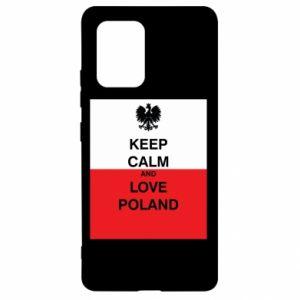 Etui na Samsung S10 Lite Polska flaga z napisem