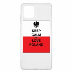 Etui na Samsung Note 10 Lite Polska flaga z napisem