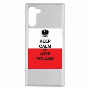 Etui na Samsung Note 10 Polska flaga z napisem