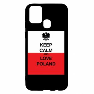 Etui na Samsung M31 Polska flaga z napisem