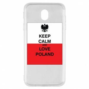 Etui na Samsung J7 2017 Polska flaga z napisem