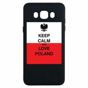 Etui na Samsung J7 2016 Polska flaga z napisem