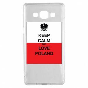 Etui na Samsung A5 2015 Polska flaga z napisem