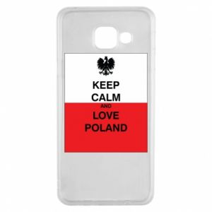 Etui na Samsung A3 2016 Polska flaga z napisem