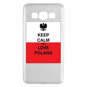 Etui na Samsung A3 2015 Polska flaga z napisem