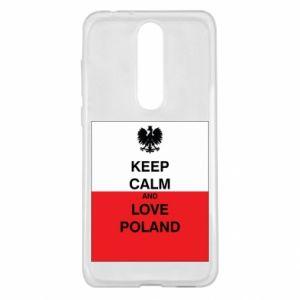 Etui na Nokia 5.1 Plus Polska flaga z napisem