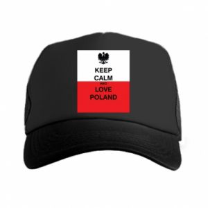 Trucker hat Polish flag with an inscription - PrintSalon