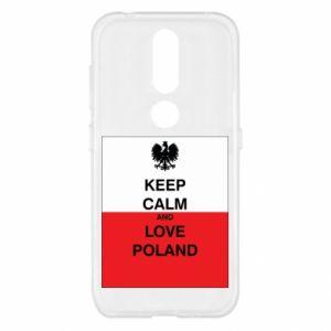 Etui na Nokia 4.2 Polska flaga z napisem