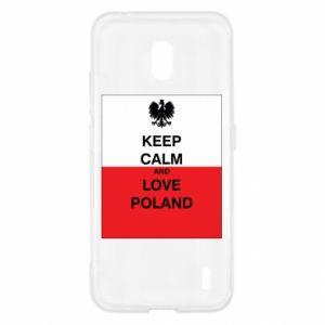 Etui na Nokia 2.2 Polska flaga z napisem