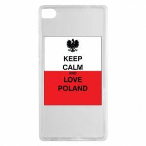 Etui na Huawei P8 Polska flaga z napisem