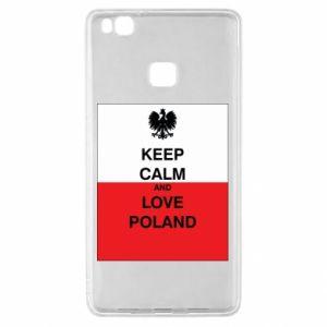 Etui na Huawei P9 Lite Polska flaga z napisem