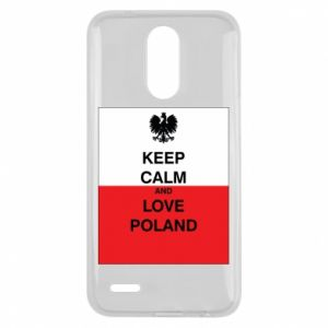 Etui na Lg K10 2017 Polska flaga z napisem