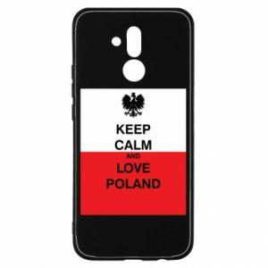 Etui na Huawei Mate 20 Lite Polska flaga z napisem
