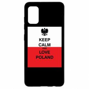 Etui na Samsung A41 Polska flaga z napisem