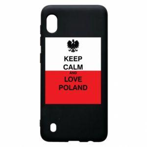 Etui na Samsung A10 Polska flaga z napisem