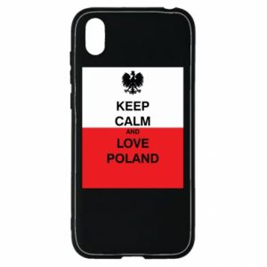 Etui na Huawei Y5 2019 Polska flaga z napisem