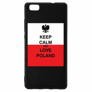 Etui na Huawei P 8 Lite Polska flaga z napisem