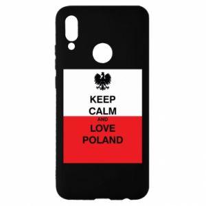 Etui na Huawei P Smart 2019 Polska flaga z napisem