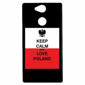 Etui na Sony Xperia XA2 Polska flaga z napisem