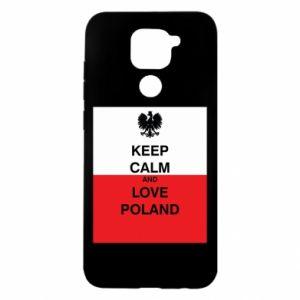 Etui na Xiaomi Redmi Note 9/Redmi 10X Polska flaga z napisem