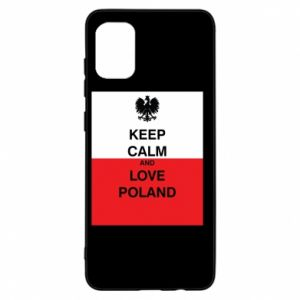 Etui na Samsung A31 Polska flaga z napisem