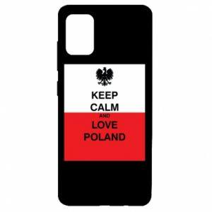 Etui na Samsung A51 Polska flaga z napisem