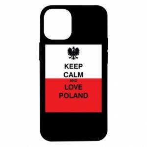 Etui na iPhone 12 Mini Polska flaga z napisem