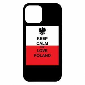 Etui na iPhone 12 Pro Max Polska flaga z napisem