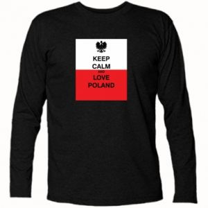 Long Sleeve T-shirt Polish flag with an inscription - PrintSalon