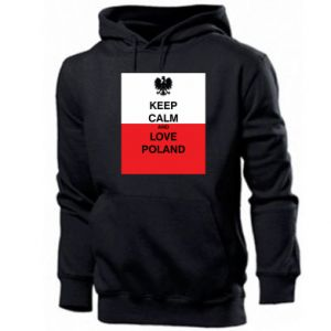 Men's hoodie Polish flag with an inscription - PrintSalon