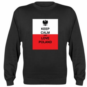Sweatshirt Polish flag with an inscription - PrintSalon