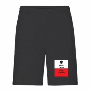 Men's shorts Polish flag with an inscription - PrintSalon