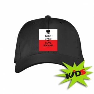 Kids' cap Polish flag with an inscription - PrintSalon