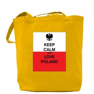 Bag Polish flag with an inscription - PrintSalon
