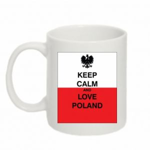 Mug 330ml Polish flag with an inscription - PrintSalon