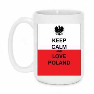 Mug 450ml Polish flag with an inscription - PrintSalon