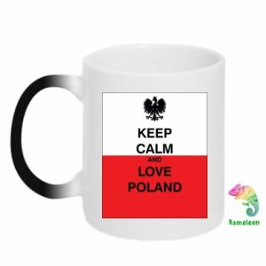 Chameleon mugs Polish flag with an inscription - PrintSalon