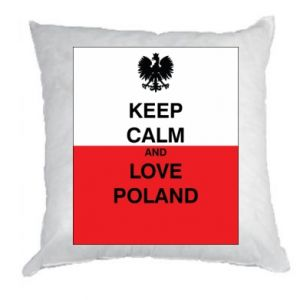 Pillow Polish flag with an inscription - PrintSalon