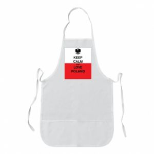Apron Polish flag with an inscription - PrintSalon