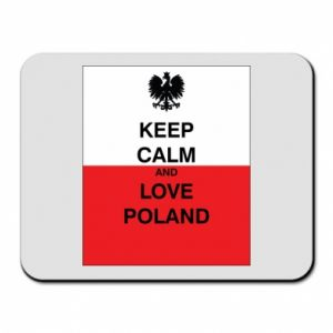 Mouse pad Polish flag with an inscription - PrintSalon