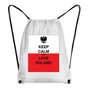 Backpack-bag Polish flag with an inscription - PrintSalon